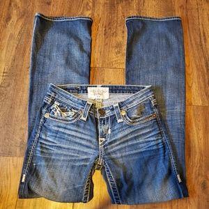 Big Star Distressed Liv Bootcut Jeans
